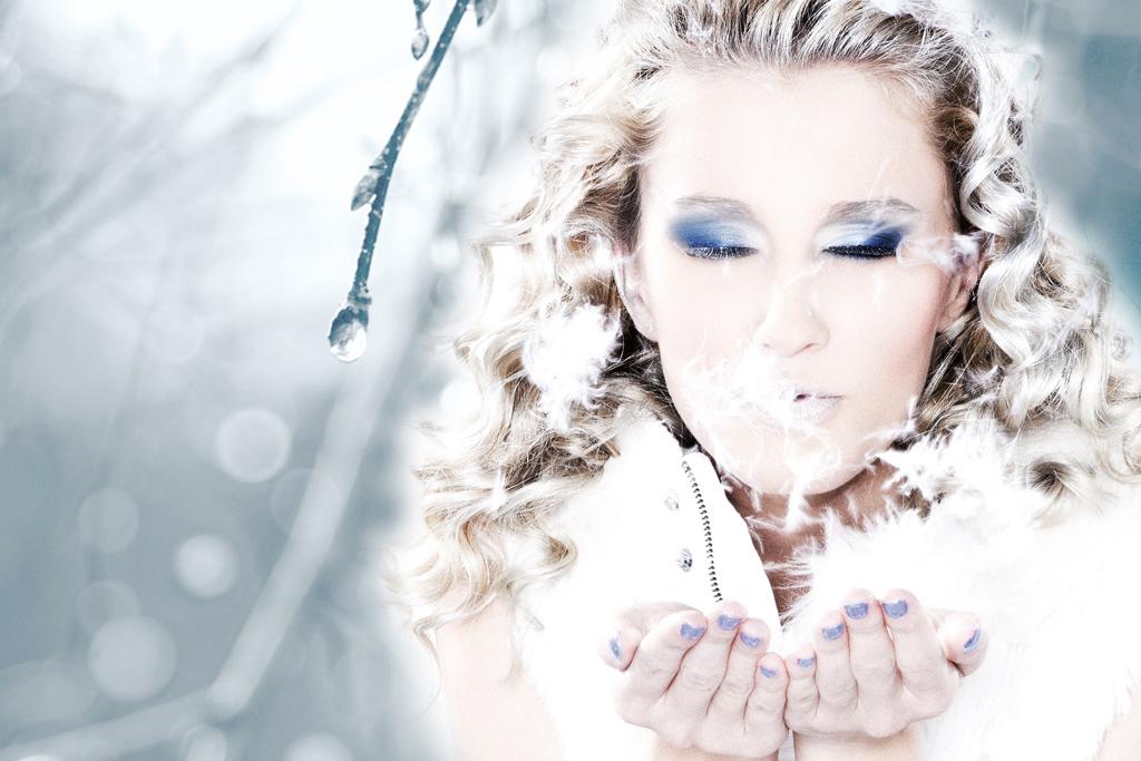 Fotenie zimného portrétu
